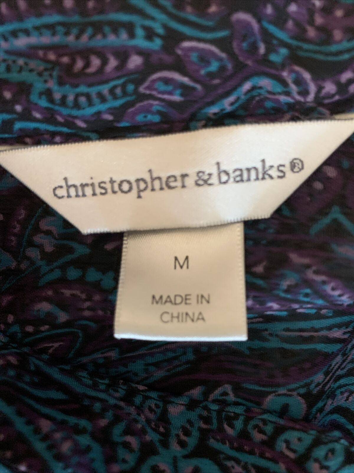 Christopher and banks women's blue paisley blouse… - image 7