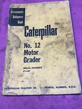 Cat Caterpillar No 12 Motor Road Grader Parts Manual Book 8t1 Up Catalog