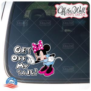 Minnie-034-Get-Off-My-Tail-034-Die-cut-Printed-Vinyl-Sticker-for-Cars-Trucks-MMD1