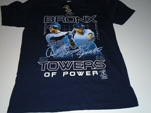watch 484b3 efe37 Details about Aaron Judge Giancarlo Stanton Bronx Towers of Power Youth  Size T Shirt S or M