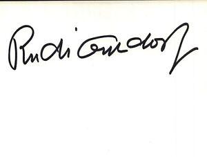 Rudi Gutendorf Fußball Trainer Original Autogramm Autograph O 549