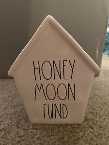 Rae Dunn Honeymoon Fund Ceramic House Bank Piggy Bank