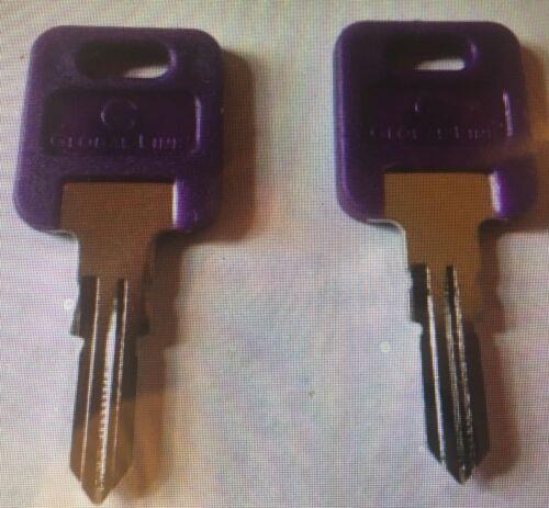 2 Global Link Violet Tête de véhicules récréatifs touches codes G351-G391 camping-car Travel trailer Clé