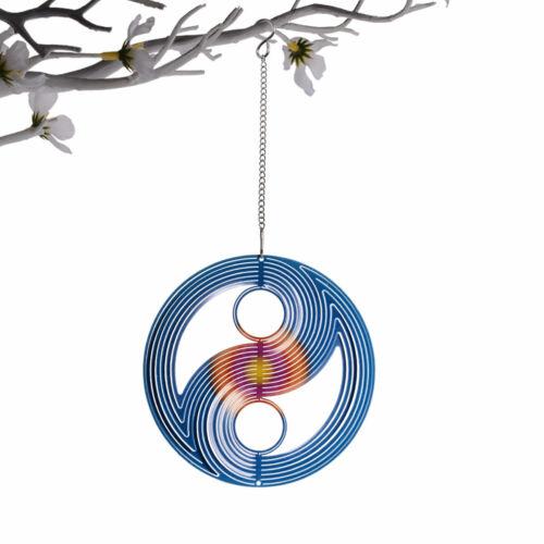 Wind Spinner Stainless Steel 3D Hanging Garden Decoration for Indoor Outdoor