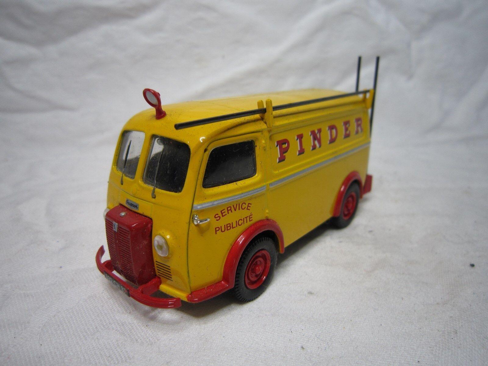 Ae159 corgi 1 43 peugeot d3a pinder press miniature adgreenising bon etat