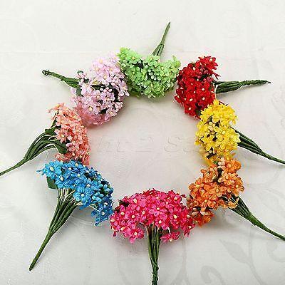 12/144pcs Artificial Baby's Breath Flower Fake Flower For Wedding Decoration DIY