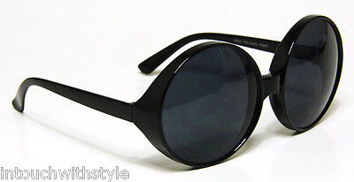 Huge Oversized Sunglasses Retro Womens Round Plastic Frame 100% UV400