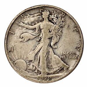 1938-D-Argent-Marche-Liberty-Demi-Dollar-50C-Fin-F-Etat