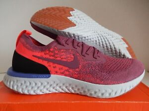 reputable site 7e8e6 34ae6 Image is loading NIKE-EPIC-REACT-FLYKNIT-VINTAGE-WINE-SZ-11-