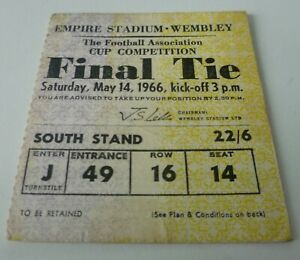 1966 FA Cup Final Ticket Original South Stand ticket Excellent Condition