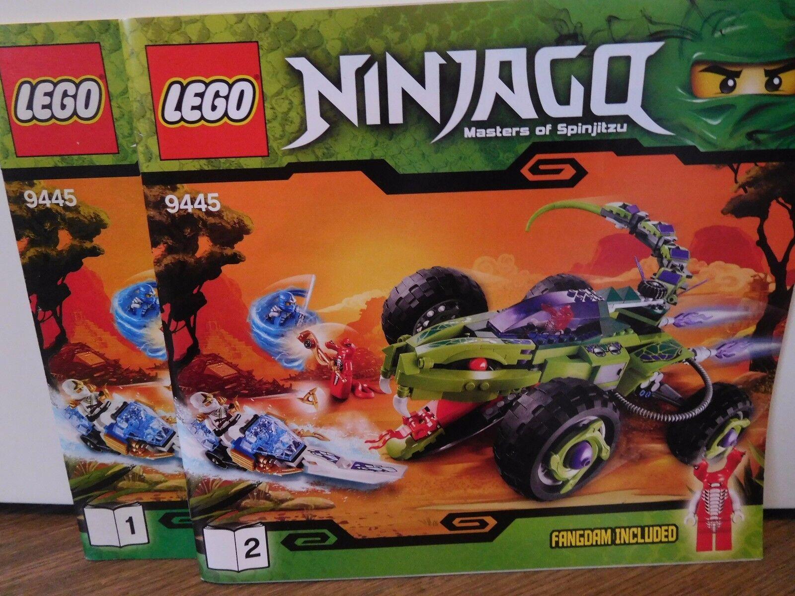 LEGO NINJAGO Schlangen-Quad (9445) (9445) (9445) mit Bauanleitungen 40e516