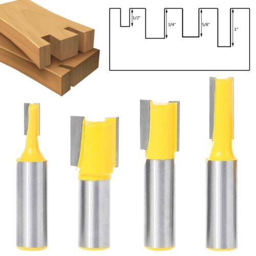 """4pcs//set 1//2/"""" tige taille Dado pour contreplaqué 1//4 3//4 Routeur Bit 5//8 1//2"""