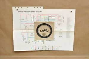 Details about 1994 Yamaha FZR1000 F FZR1000 FC Factory Color Schematic on