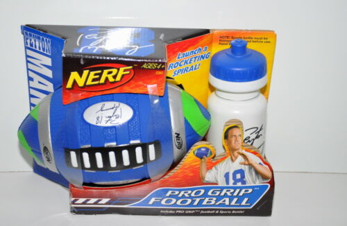 Peyton Manning Nerf Pro Grip Football With Water Bottle New in Box 2007