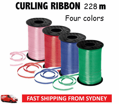 Pink 10m Pre Cut Balloon Curling Ribbon 5mm thickness  Red Green Blue