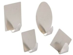 KLEBEHAKEN REX EDELSTAHL Wandhaken selbstklebend Handtuchhalter Handtuchhaken