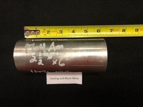 """2.500/"""" diameter 17-4 stainless  ROD//BAR  6.00/"""" long   Lathe or milling Stock"""