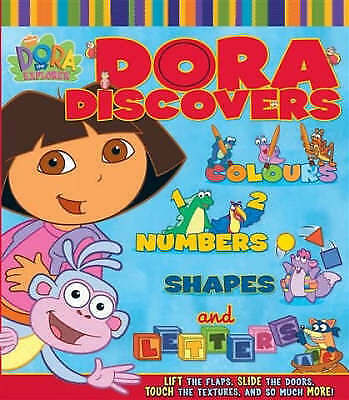 """AS NEW"" Nickelodeon, Dora Discovers (Dora the Explorer), Board book Book"