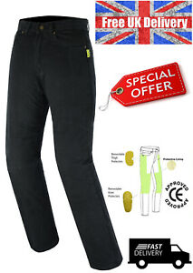 Mens-Motorcycle-Jeans-Trouser-lined-with-Kevlar-CE-armour-Trouser-Pant