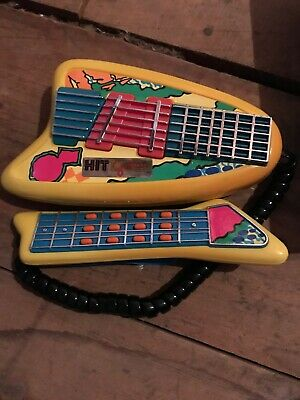 ??? Electronic, Battery & Wind-up Vintage 1989 Nasta Hit Electronic Air Guitar Toy Hitstrument A7 Tested Works