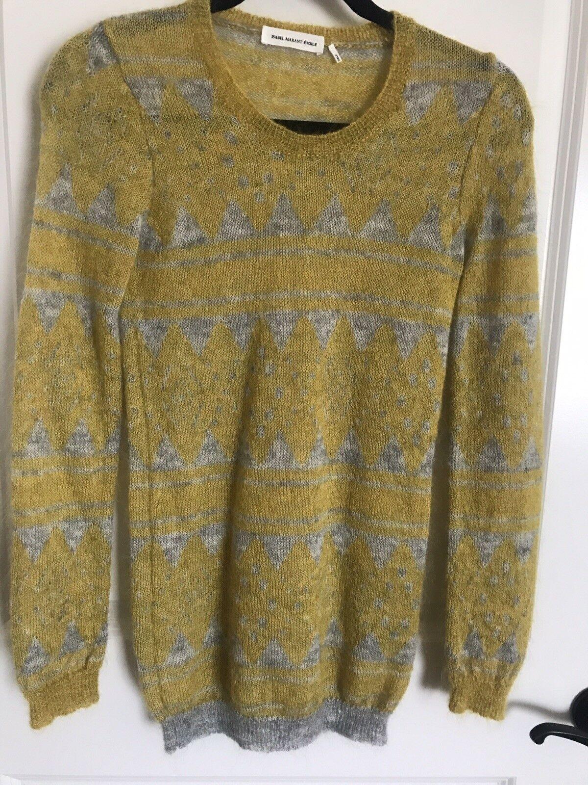 ISABEL MARANT ETOILE  Falk Mohair-Blend Sweater in FR 36 XS S
