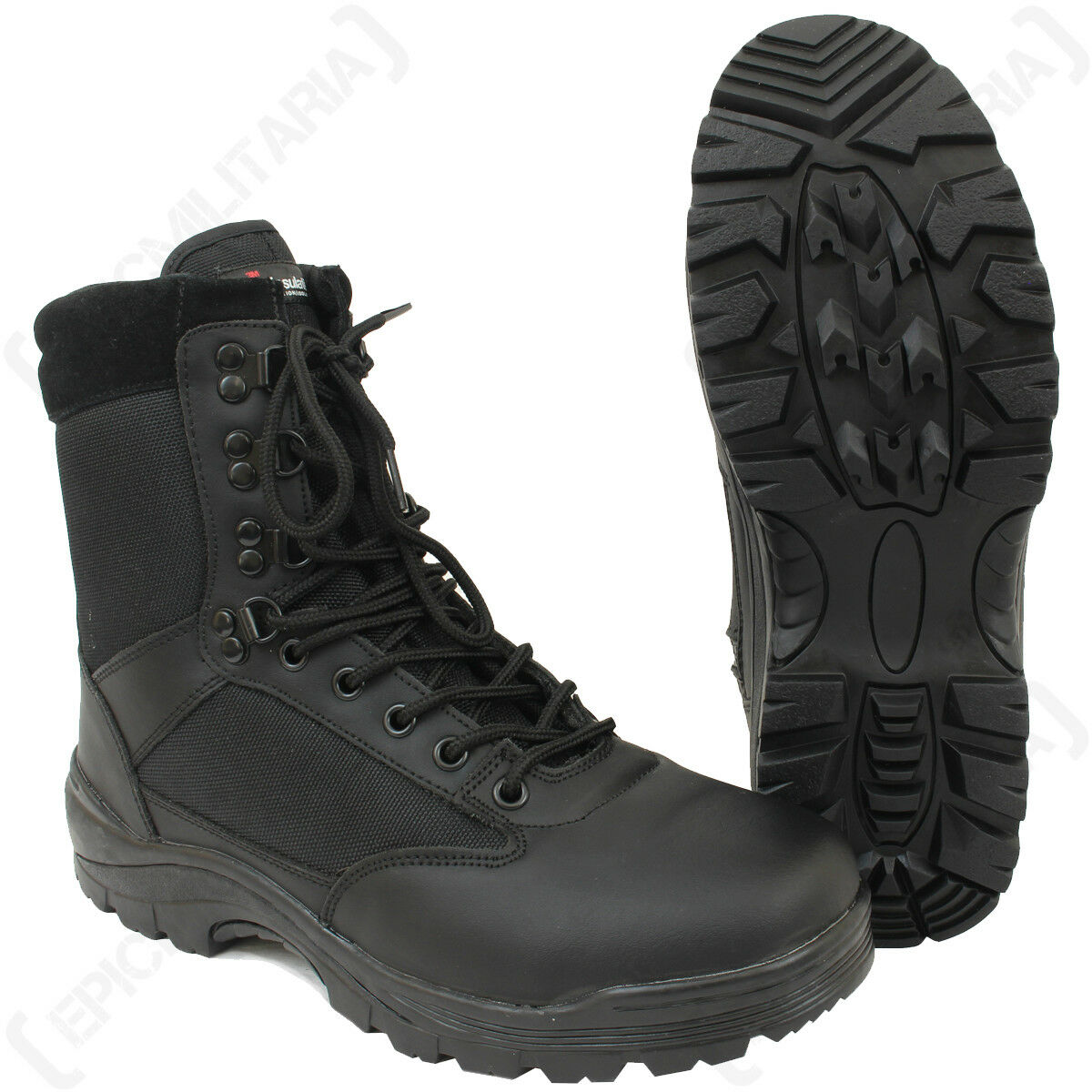 Schwarz Taktisch Armee Stiefel Militär mit YKK Reißverschluss - Militär Stiefel Kadetten Airsoft 5de9b9