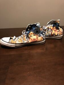 ddaac799a3b5 Converse Chuck Taylor All Star Wonder Woman Shoes DC Comics 8 Men 10 ...
