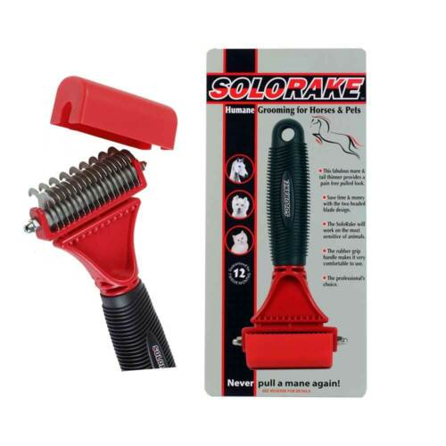 Solorake Humane Groomer for Horses Dogs Pets Animals Grooming Tool Tail Thinner