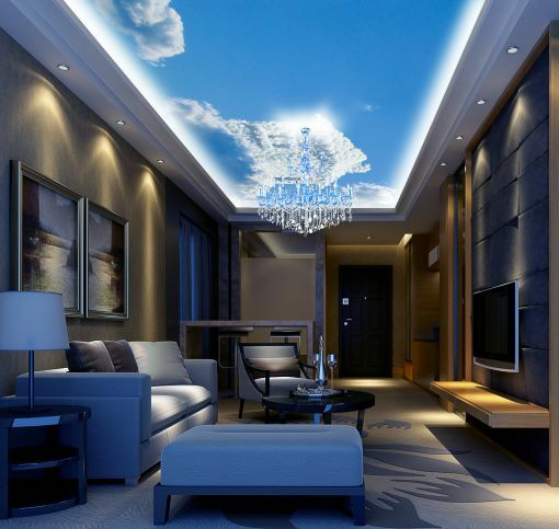 3D House Clouds Ceiling WallPaper Murals Wall Print Decal Deco AJ WALLPAPER GB