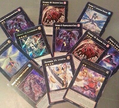 YUGIOH CARDS LOT 40 Commons 10 Rares 5 Holos NO DUPLICATES-FREE SHIP ygo55