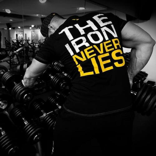 "Dedicated Nutrition /""Iron Never Lies/"" Premium T"