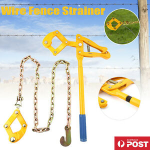 Wire Fencing Strainer Plain Barbed Electric Fence Energiser Chain Repair AU SHIP 736691288075