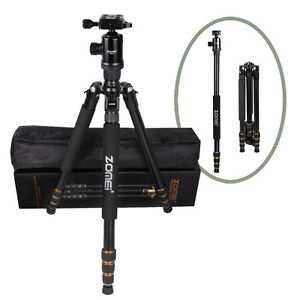 Zomei Z688 2-in-1 Pro DSLR Camera Magnesium Alloy Tripod Monopod + Ball Head