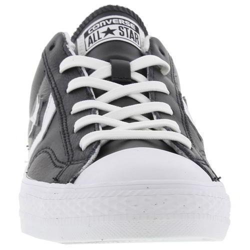 49 Converse 14 Blanco Low Nuevo Negro y Zapatillas Ox Cuero Eu Player Uk Star PwqWBd