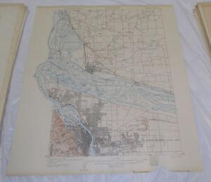 1905 Topographic Map Portland Quadrangle Oregon Washington Ebay