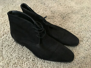 Zara Man All Black Suede Chukka Ankle