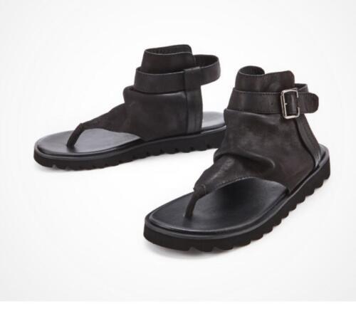 Plage Noir Romain Hommes Slingbacks De Chaussure Sandal Tongs Gladiateur Cuir Hkm15 B4xU15qw