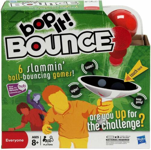 Bop It Bounce Game By Hasbro Electronic Voice Commands 6 Slammin/' Skill games