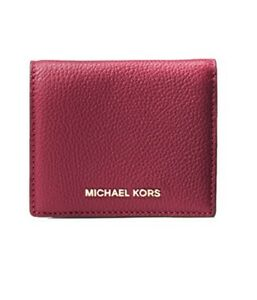 a606524aaec1 Image is loading Authentic-Michael-Kors-Money-Pieces-Mulberry-Flap-Credit-