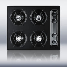 """New in Box Black 24"""" Gas 4 Burner CookTop Surface Unit Elec Ign - FREE Shipping"""