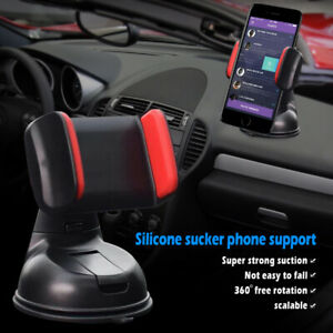 In-Car-Suction-Phone-Holder-Dashboard-Windscreen-Mount-Various-Colours-Universal