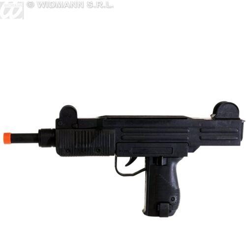 New UZI 9MM 1980s 70s Commando 38cm Big Sound Machine Gun Fancy Dress Toy Prop