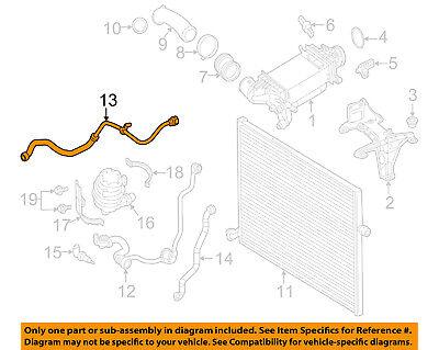 Genuine Mercedes-Benz Turbo Coolant Hose Intercooler OE 2535010684
