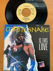 "Whitesnake - Is This Love // 7"" - 1. German-Pressing 1987 - TOP"
