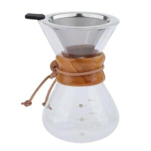 200ml-400ml-Pour-Over-Coffee-Hand-Drip-Pot-w-Stainless-Steel-Dripper-Cone
