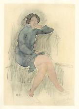 Auguste Rodin pochoir