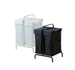 ikea mulig laundry bag with stand black or white hamper ebay. Black Bedroom Furniture Sets. Home Design Ideas