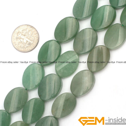 """18x25mm Natural Assorted Stones Oval Twist Beads For Jewelry Making Strand 15/"""""""