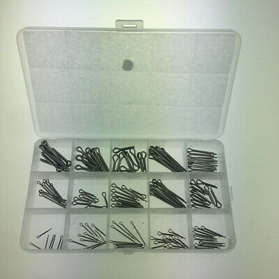 150Pcs//set 15 Kinds Mixed Stainless Steel Split Cotter Pins Assortment with Box