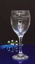 Personalised Engraved White Zinfandel Wine Glass Birthday/Wedding/Accaution75